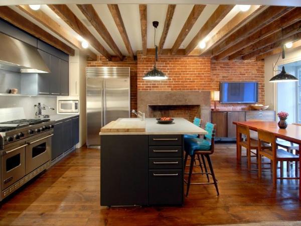 Julianne-Moore-brownstone-kitchen